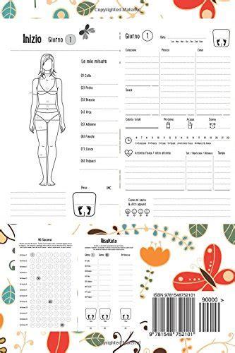 diario alimentare libro diario alimentare 90 giorni agenda perdita di peso