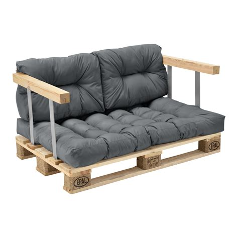 euro pallet sofa 3 x seat back rest cushion pad pillow