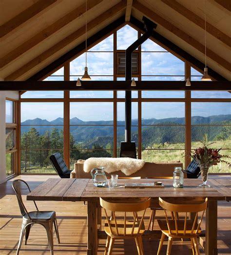 rustic meets contemporary hillside home   rocky