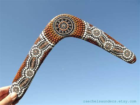 Authentic Aboriginal Boomerang Painted Dot
