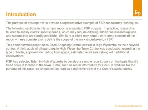 How To Write Consultancy Report by Sle Market Intelligence Report Fsp Retail Consultancy