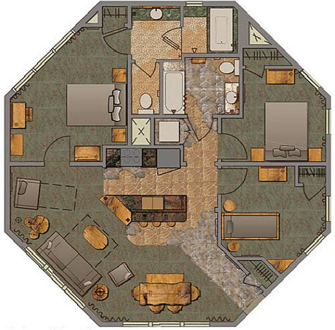 Treehouse Floor Plans by The Treehouse Villas Disney Vacation Club Points Rental