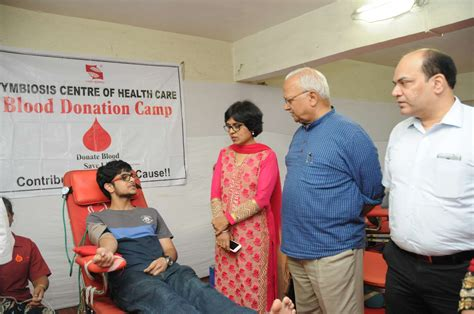 Donation In Symbiosis Mba by Blood Donation Drive 1st August 2016 Sihs Pune