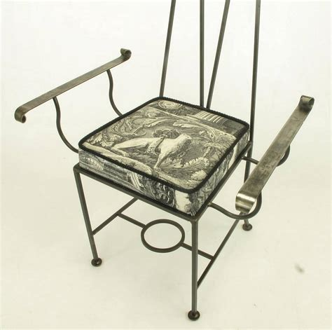 Wrought Iron Dining Chairs For Sale Set Of Eight Blackened Wrought Iron Quot Royal Quot Dining Chairs For Sale At 1stdibs