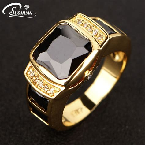 mens yellow gold diamond rings reviews online shopping