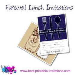 farewell lunch invitation