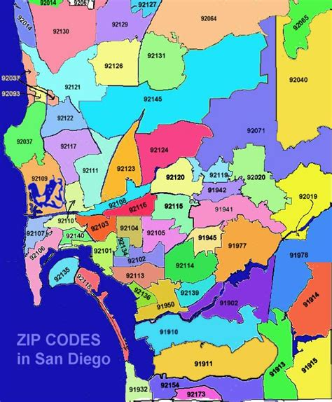 san diego county map map of san diego zip codes this will be helpful i m sure san diego or bust baby