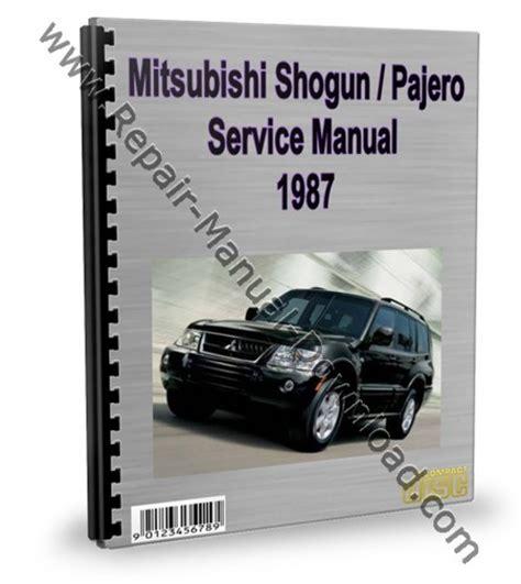 mitsubishi montero pajero shogun 1987 service repair manual downl