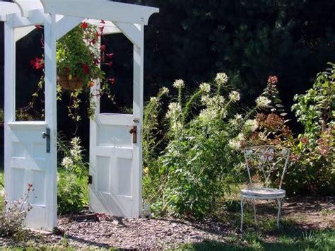 Garden Arbor With Door Recycling Wooden Doors And Windows For Home Decor