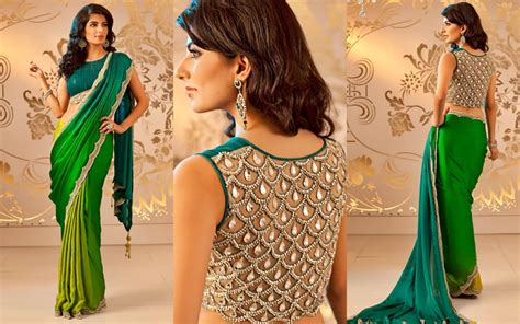 Designers Want Models Me Stace by Embellished Saree Blouse Designs Patterns