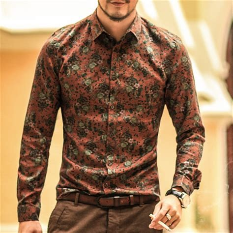 aliexpress buy shirt floral printing sleeve shirts clothes flowers printed
