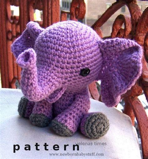 pattern elephant baby knitting patterns baby elephant instant download