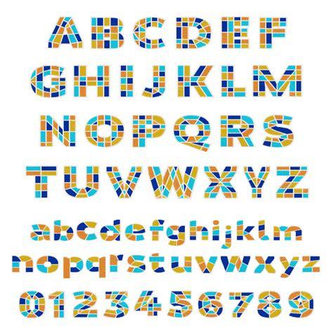 Mosaic Pattern Font | styles embroidery font mosaic font from embroidery patterns