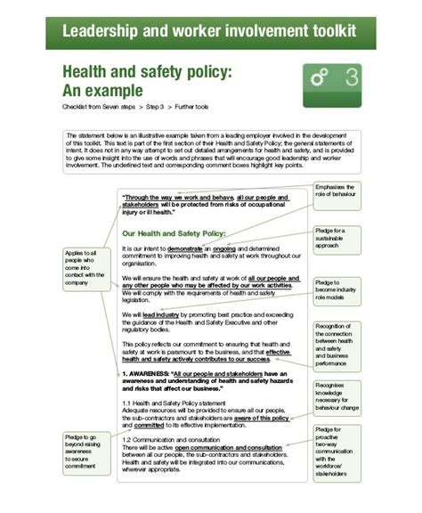 free workplace policy template 8 free workplace safety policy templates pdf free