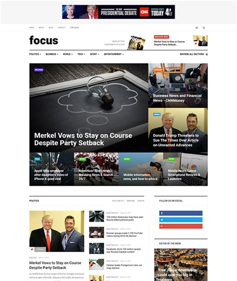 multiple layout joomla template news and magazine joomla template ja focus joomla