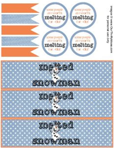 free printable melted olaf labels free label printables on pinterest canning labels