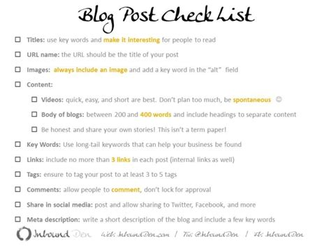 blogger list blog post checklist for conscious blogging