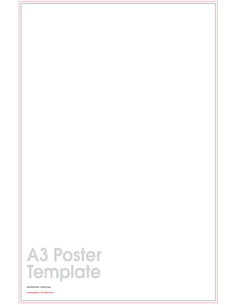 templates for a3 posters a3 poster sle template free download