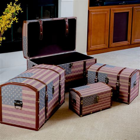 living room trunks us flag decorative storage trunks modern living room