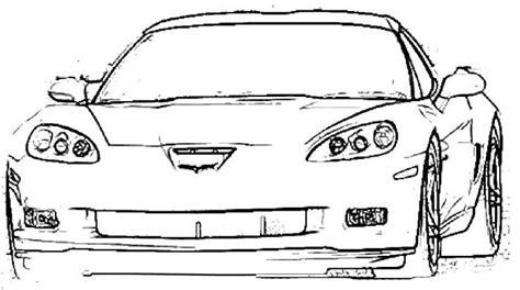 corvette z06 coloring page corvette pinterest