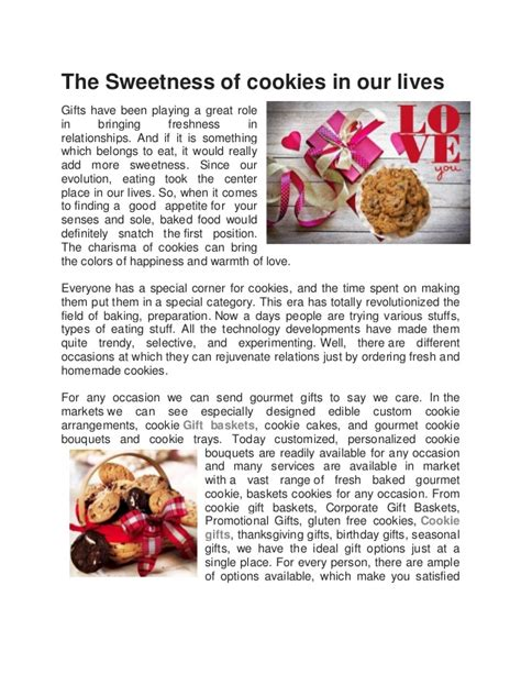 the sweetness of cookies in our lives