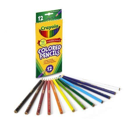 crayola color pencils crayola classic colored pencils 12 count walmart