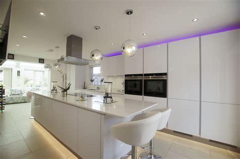 high gloss white cabinets white high gloss german kitchen buntingford blax