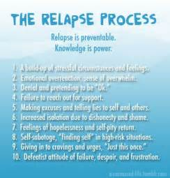 Recreation therapy ideas the relapse process