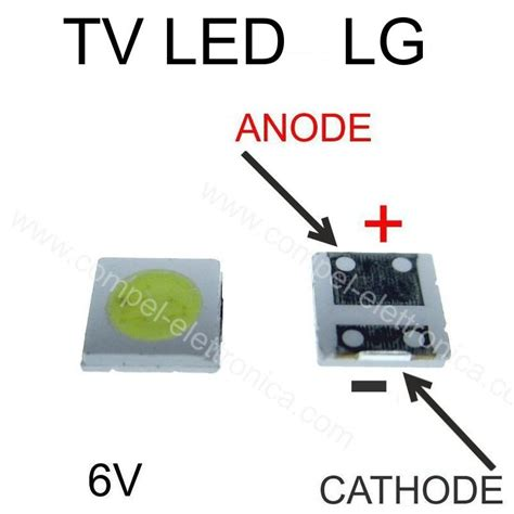 Tv Led Rp diodo led 3535 rp 2 1w 6v per barre retroilluminazione tv led lg comp el componenti