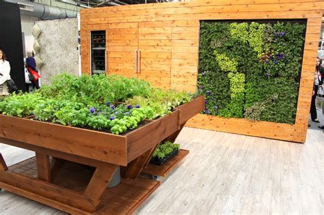 kitchen herb garden design miele brings a green walled kitchen and massive herb