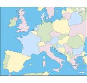 Western And Central Europe Free Map Blank