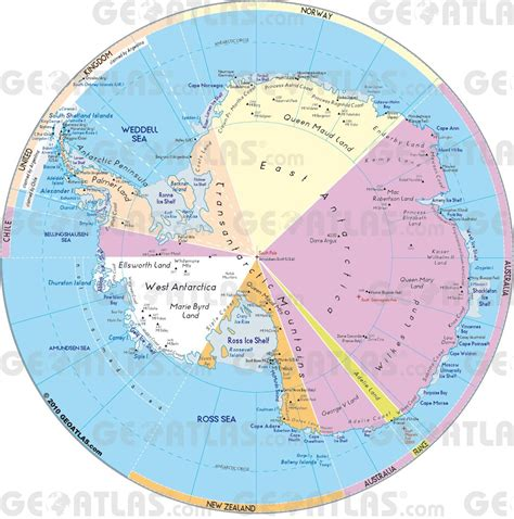 map of antarctica antartica geoatlas continental maps antarctica map