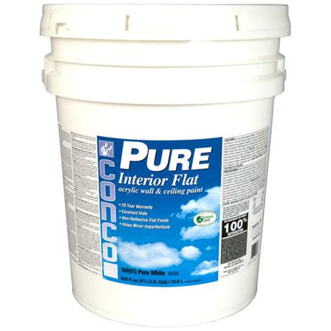 conco flat white pastel int acrylic wall ceiling paint 5 gal at menards 174