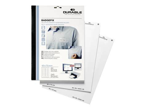 bureau vallee pessac durable badgefix 240 201 tiquettes pour badges tissu