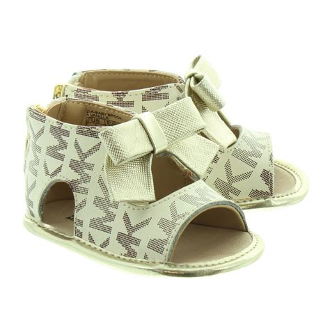 baby michael kors shoes michael kors baby brook mk sandals in vanilla in vanilla