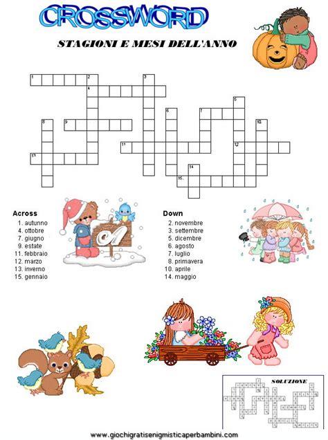 parole 9 lettere crossword mesi enigmistica in inglese schede didattiche