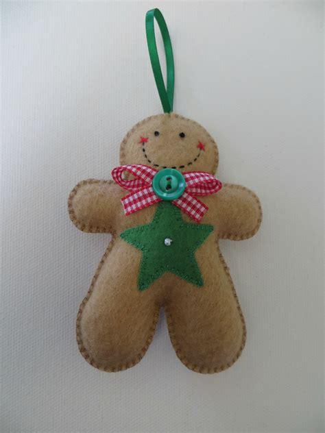 gingerbread ornaments small felt gingerbread ornament felt