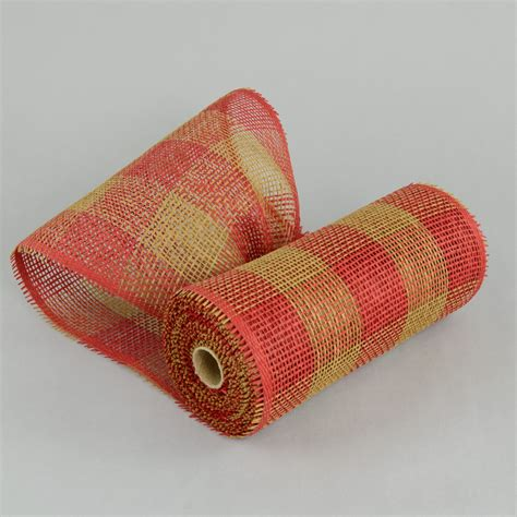 Paper Mesh Craft - 10 quot paper mesh roll plaid 10 yards rr800253