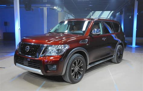 nissan suv armada 2017 2017 nissan armada full size suv debuts on eve of chicago