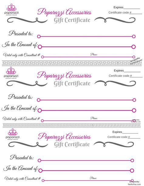 Paparazzi Gift Certificate Template Paparazzi Gift Certificate Paparazzi 5 Jewelry Join Or Shop Online