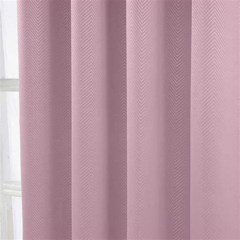 Blackout Curtains Chevron Herringbone Chevron Blackout Thermal Ready Made Curtains Pair Eyelet Style Ebay