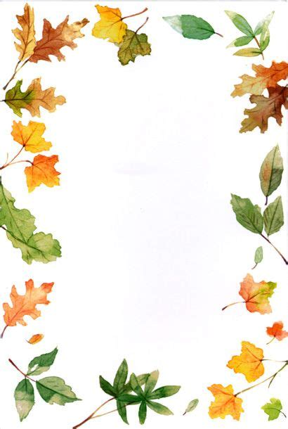 Fall Border 2 Autumn Clip Art And Images Images On Clipartpost Fall Border Templates