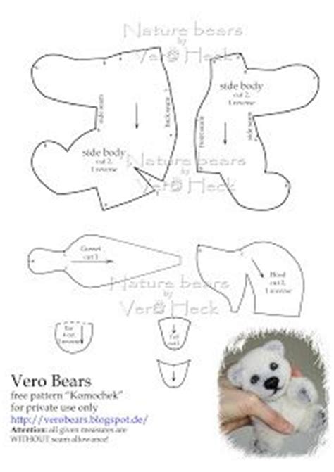 make your own teddy template best 25 patterns ideas on teddy