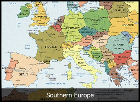 southern europe map european tours the best of europe