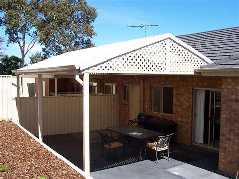 attached patio roof patio attached pitched roof insulated 4m x 4m smartkits australia