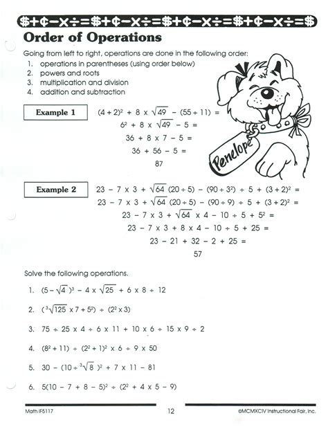 Order Of Operations Worksheets 6th Grade by Search Results For Order Of Operations Worksheet For 6th