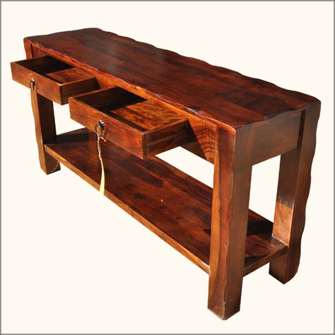 rustic console table with storage hall tables on shoppinder