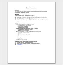 course outline template program outline template 19 for word pdf
