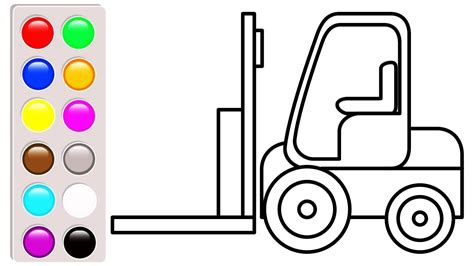 Adinata Coloring Book Cars L forklift coloring pages car and truck coloring book