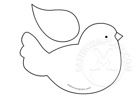 bird template bird printable